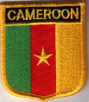 Cameroon Embroidered Flag Patch, style 07.